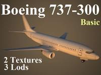boeing 737-300 basic 3d model