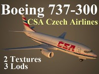 3d boeing 737-300 csa model