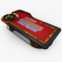 3d model of casino table -