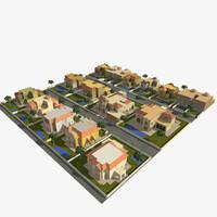 3d model village villa