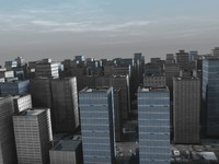 city scape skyline buildings 3d model