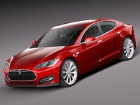 3ds tesla s luxury sport car