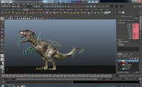 3d model dinosaur rigged