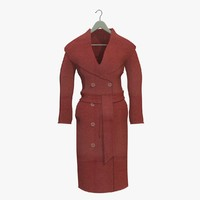 3d model womans red coat hanger