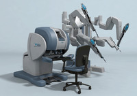da vinci surgical robot 3d model