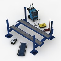 garage equipments 3d model