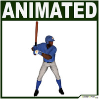 3d model characters baseball player cg