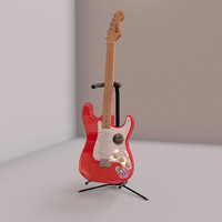 3d fender guitar stand