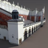 Krakow `Sukiennice` Hall Low Poly 3d Model