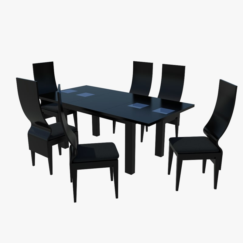 Free max model dining table for Dining room table 3ds max