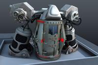 3d model teleporter sci-fi time