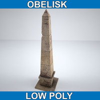 Obelisk Low Poly for Game