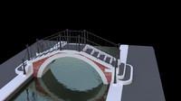 3d model venetian bridge