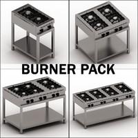 pack burner 3d max