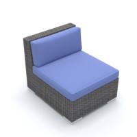 rhino middle wicker chair