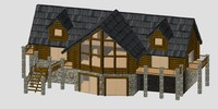 3d model of log home 2012