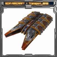 3d aircraft spaceship fighter model