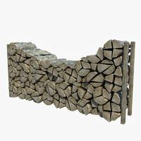 wooden logs 3d max