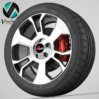 wheel 4go xs326 3d model