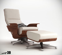 3d model chaise lounge chair