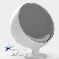 Ball chair white plastic