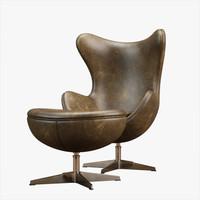 free chair lobby 3d model