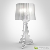 3d model transparent lamp kartell bourgie