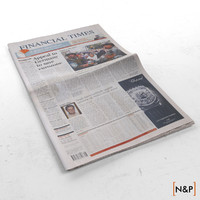 3d newspaper folded financial