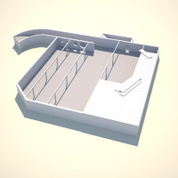 construction site underground parking 3d model