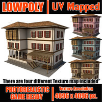 Lowpoly ottoman house LPBldX38