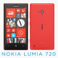 3d nokia lumia 720 model
