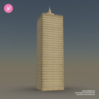 3d model skyscraper 04 day night