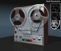 3d model reel tape recorder