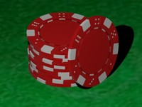 higly detailed pokerchip red