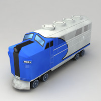 Low poly train v.6