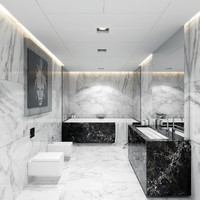 bathroom marble realistic 3d model