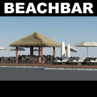 3ds max beachbar bar