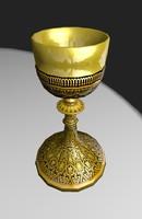 golden chalice 3d model