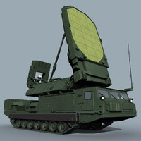 screen soviet russian 3d model