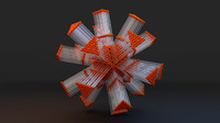 abstract art 3d model