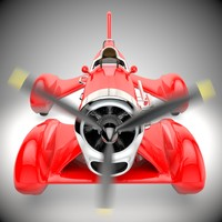 3d race car propeller model