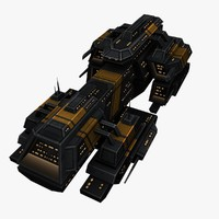 3d model upgraded ship space battleships