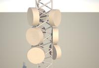 10 meter telecom mast 3d 3ds