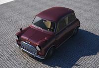 3d model classic mini cooper