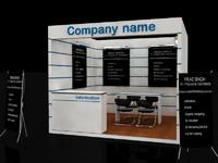 3d model of stall design