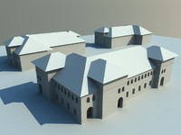 3d houses arc windows model