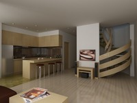 3d appartment interior model