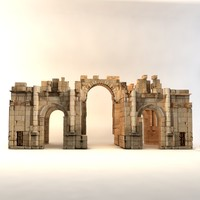 south gate jerash 3d c4d
