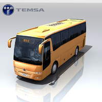 temsa md9 ic bus games 3d model