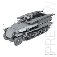 sd kfz 251 7 3d 3ds